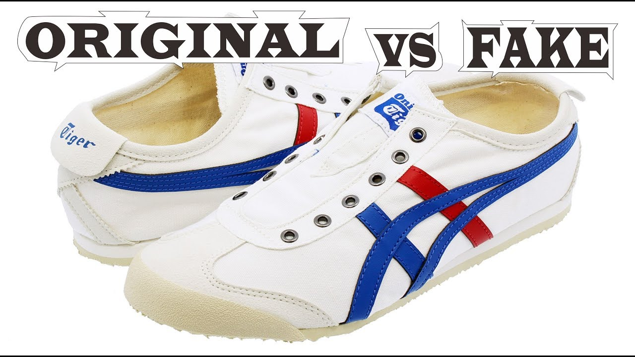 check out f9c92 7c26a Onitsuka Tiger Mexico 66 Slip-On Original & Fake