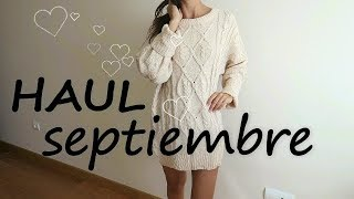 HAUL SEPTIEMBRE @rosapastelvlog
