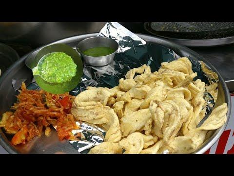 Highway halt Rajkot to Amreli | આટકોટ ગાંઠીયા ની ફેમસ ચટણી | Amreli food blog 1 | Street food tour