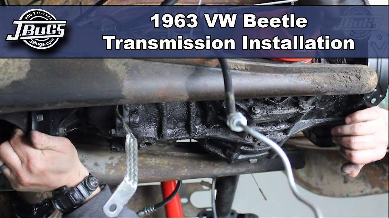 Jbugs 1963 Vw Beetle Transmission Installation Youtube Wiring Harness