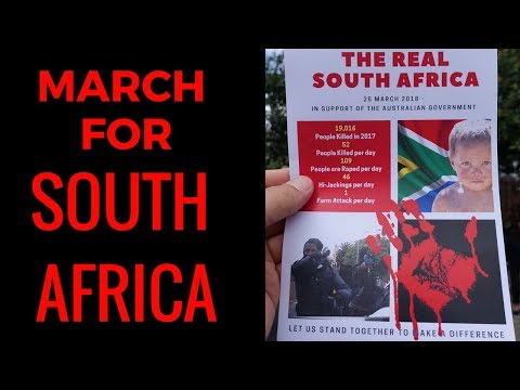 March For South Africa - Brisbane  - 25/03/18 - Full Clip #savetheboer #bringthemhere