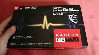Sapphire Radeon PULSE ITX (Mini) RX 570 4Gb - Распаковка,обзор,майнинг !