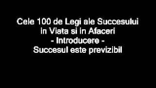 Legile Succesului-Introducere-Succesul este previzibil