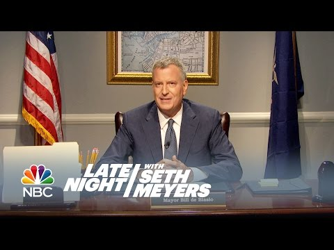 A Message from NYC Mayor Bill de Blasio - Late Night with Seth Meyers