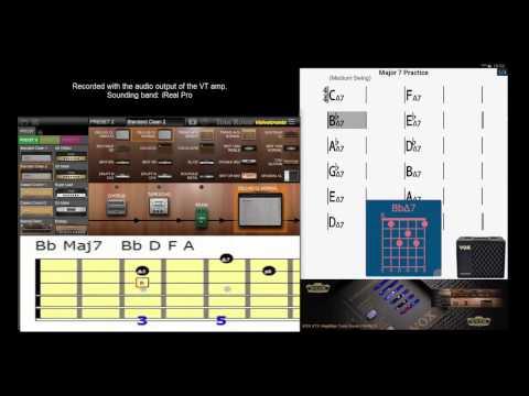 Easy jazz guitar practice #1