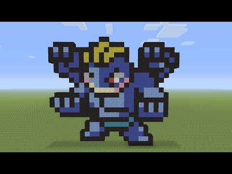 Minecraft Pixel Art - Machamp Pokémon #068