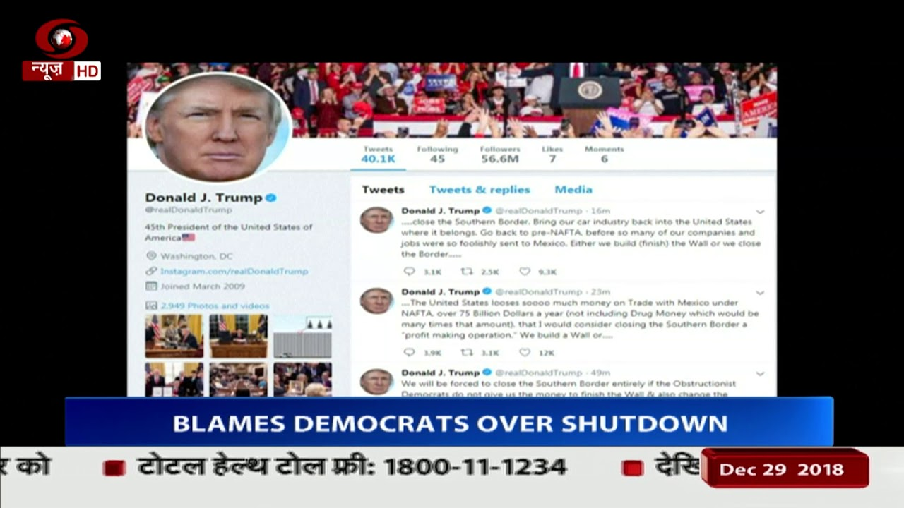 Download President Trump threatens to close Mexico border