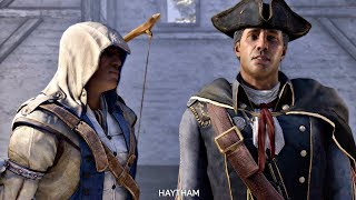 Assassin's Creed 3 Remaster - Connor Meets His Father Haytham (Assassin Son Templar Dad) PS4 Pro