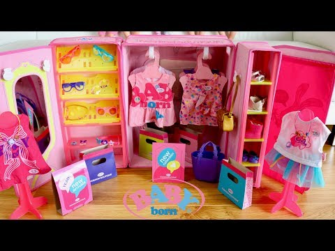 Baby Born Fashion Shop Set Up and Baby Dolls Go Shopping Pre