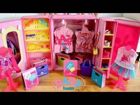 Baby Born Fashion Shop Set Up and Baby Dolls Go Shopping Pretend Play Compras de muñecas
