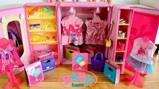 Baby Born Fashion Shop Set Up and Baby Dolls Go Shopping Pretend Play Compras de muñecas