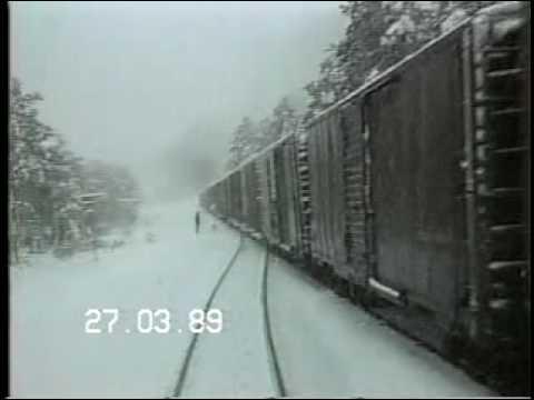 Nevada en La Sierra de Chihuahua Tren ChePe Semana Santa de 1989