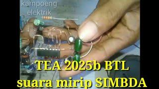 TEA 2025b subwoofer amplifier circuit