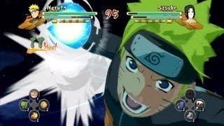 (PS3) Kyuubi Rasengan Naruto vs Chidori Spear Sasuke Naruto Ultimate Ninja Storm 3