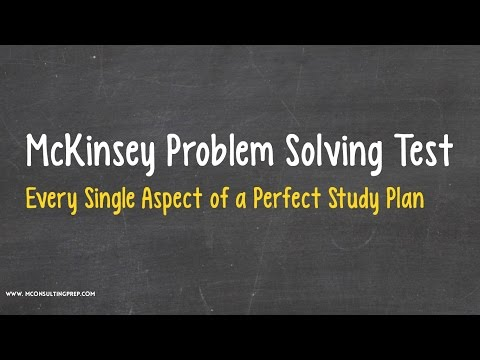 McKinsey PST - The Perfect Study Plan to Prepare for the Test