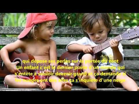 Un enfant - Céline Dion (Lyrics)