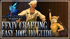 FFXIV: Beginner 90-100% HQ Crafting Guide - Crafting Quest Turn-ins (Final Fantasy XIV | 1080p | PC)