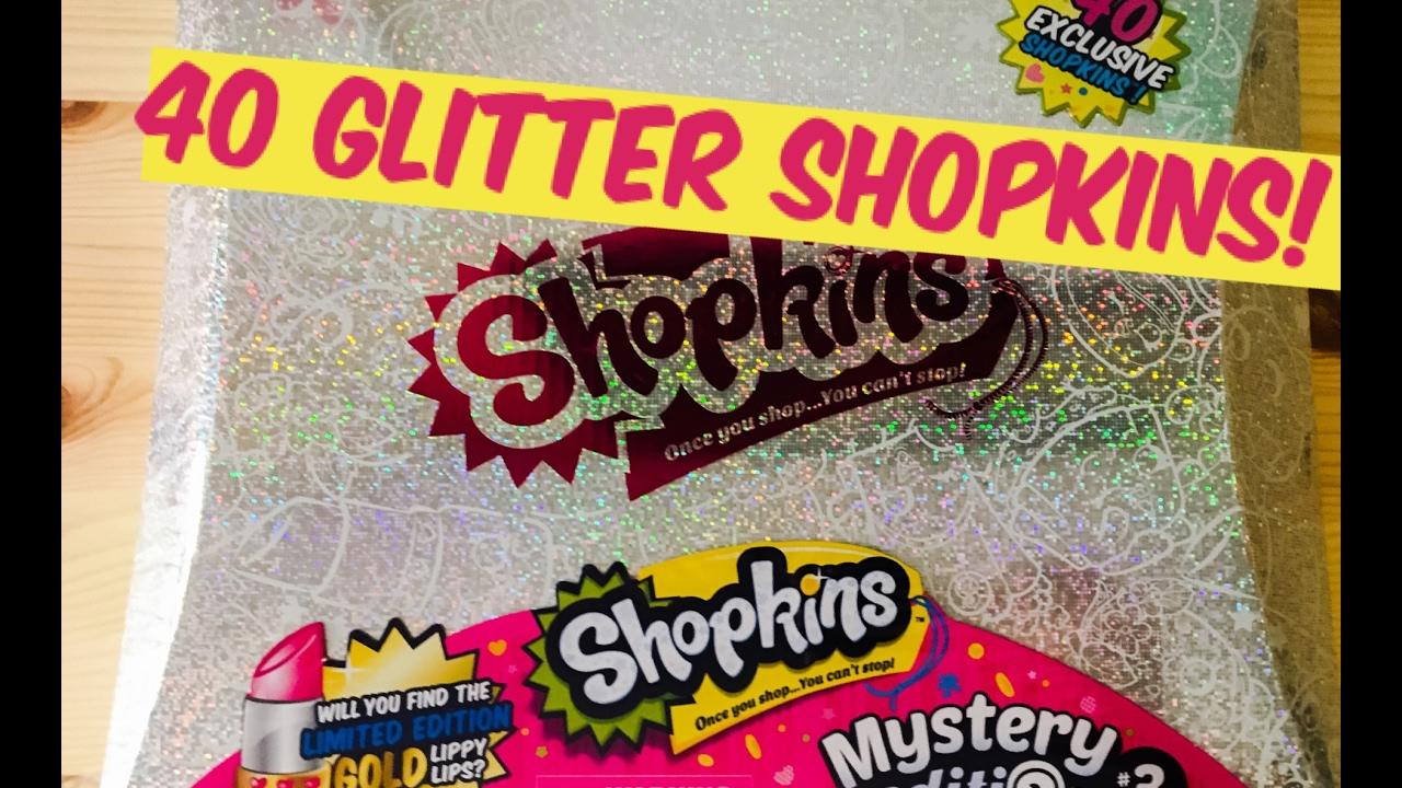 NEW SHOPKINS MYSTERY EDITION #3 EXCLUSIVE GLITTER SHOPKIN!!