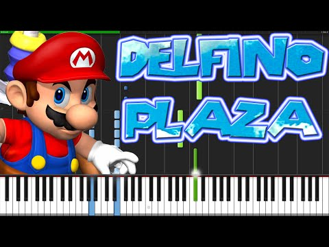 Delfino Plaza - Super Mario Sunshine [Piano Tutorial] (Synthesia)