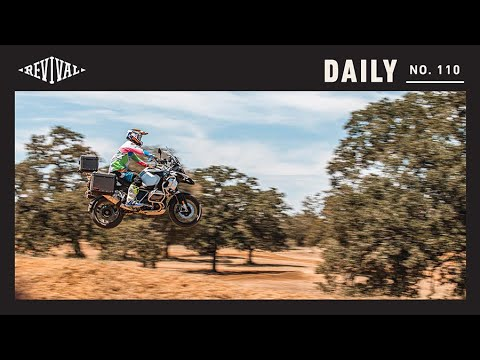 Face off in the dirt: BMW R1250GS, Husqvarna TE250, Royal Enfield INT650 // Revival Daily 110