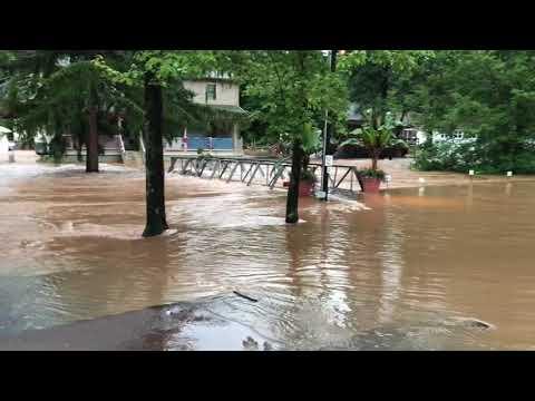 Flooding at Knoebels Amut Resort on