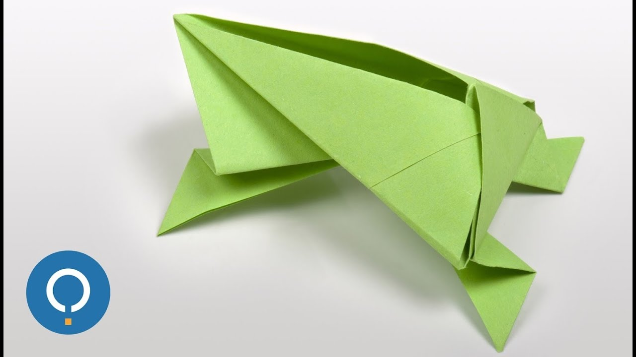 Easy Origami Frog - Origami Animals - YouTube - photo#48