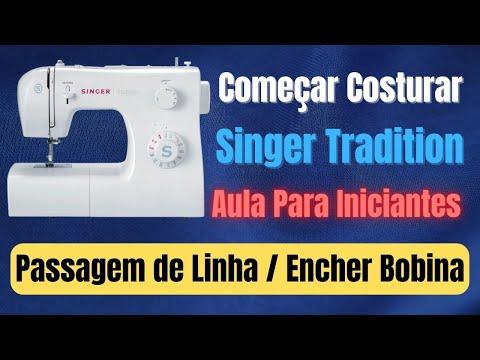 Aula de manuseio máquina de costura Singer Tradition 2259