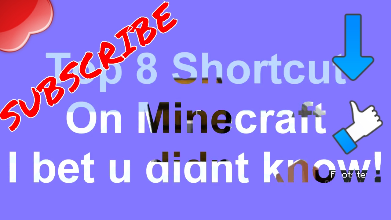 Minecraft™ Tips And Tricks ! (Keyboard & Mouse Shortcut) ✔