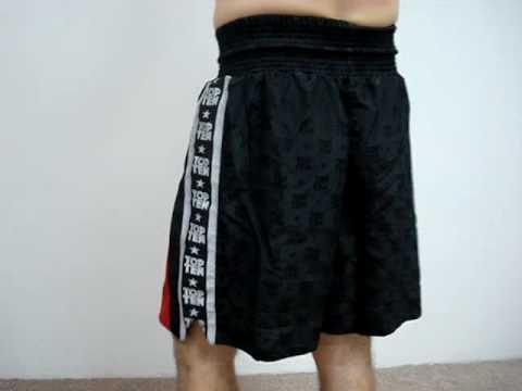Top Ten Boxing Shorts – black/red