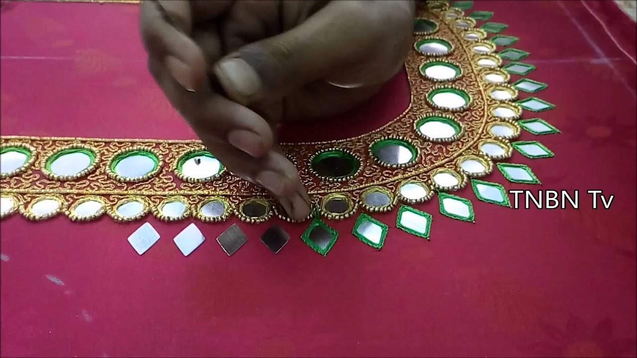 9a168790f21b6c mirror work blouses for pattu sarees