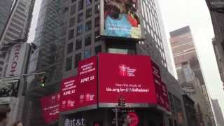 Red Card to Child Labour Campaign takes to Times Square