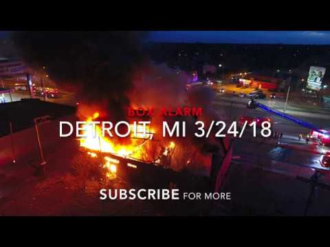 Detroit Fire Department (Drone Video) Commercial Box Alarm 3-24-18 Woodward x McNichols