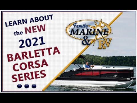LEARN ABOUT NEW 2021 BARLETTA PONTOON BOAT. CORSA SERIES