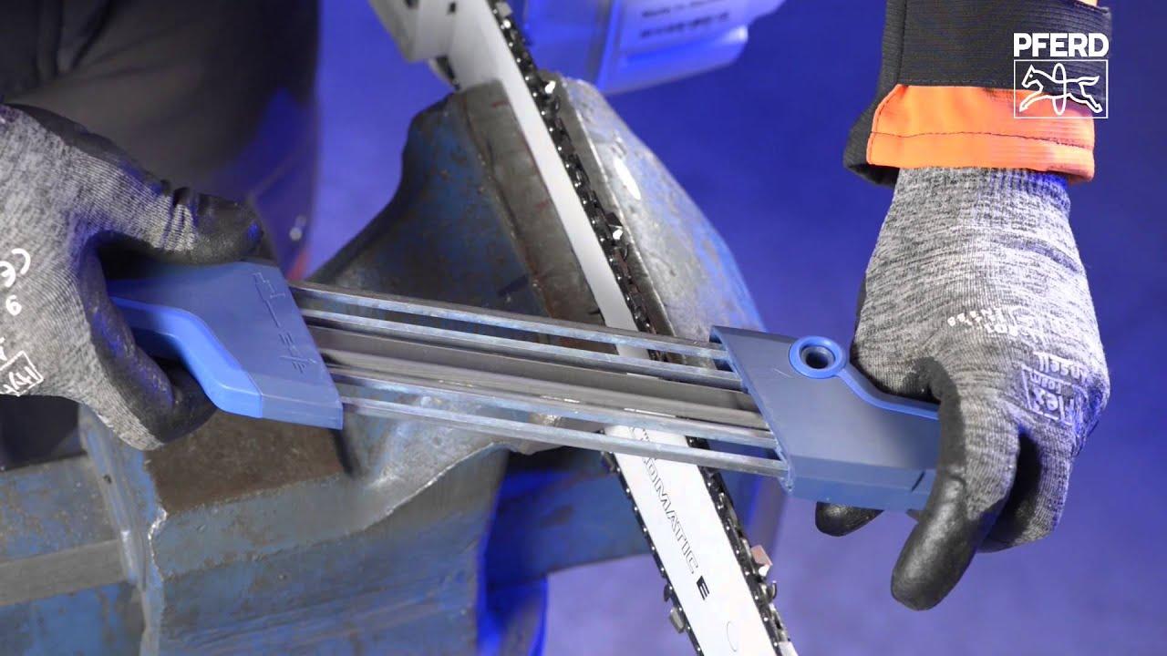 pferd - chain saw sharpener chain sharp cs-x - youtube