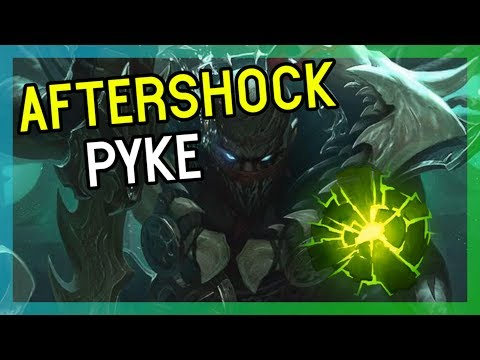 AFTERSHOCK PYKE SUPPORT LEAGUE OF LEGENDS 9.5 thumbnail