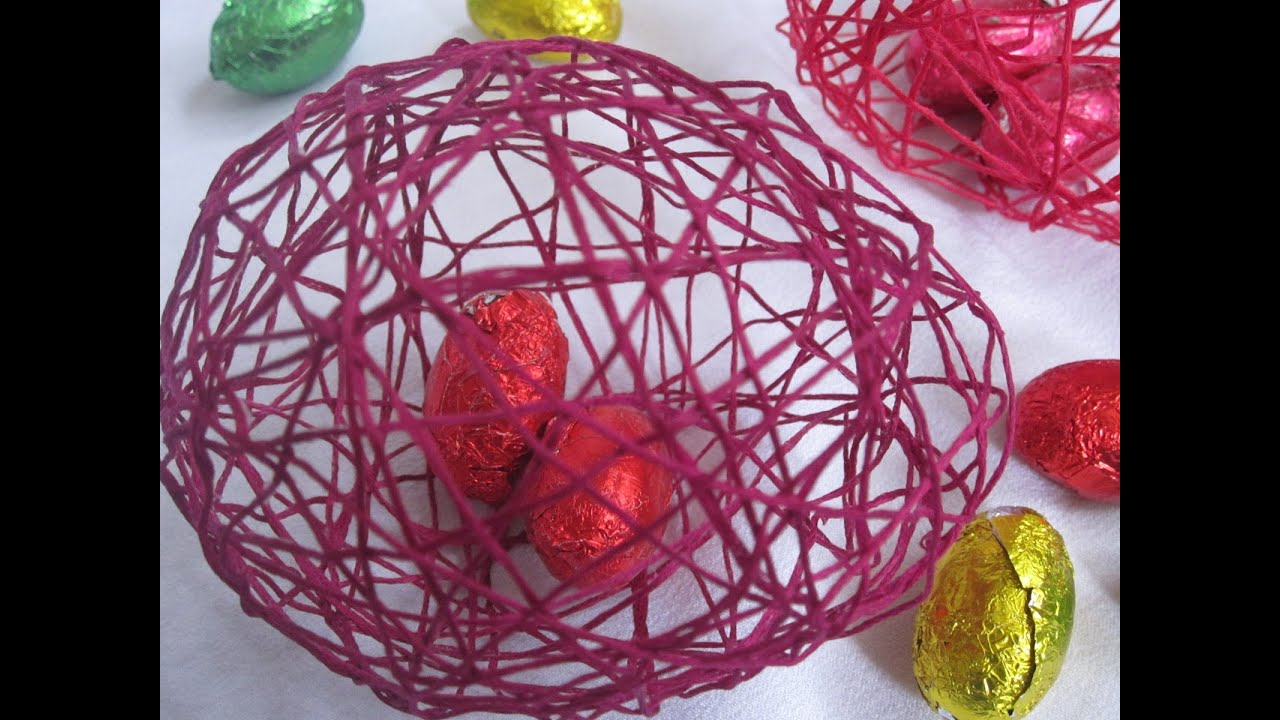 diy easter decorations string eggs youtube