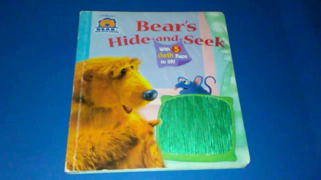 bear in the big blue house bear u0027s hide and seek 5 cloth flaps to