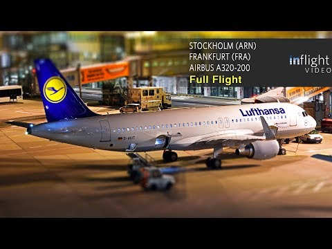 Lufthansa Full Flight | Stockholm Arlanda to Frankfurt | Air