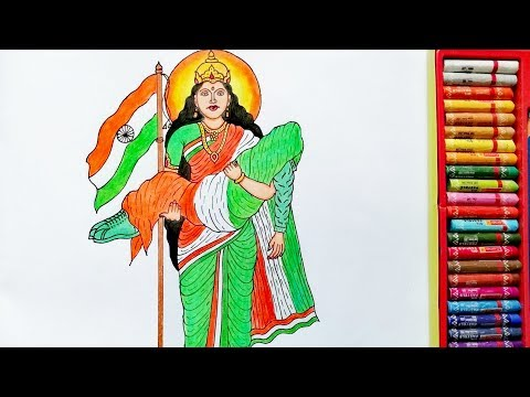 independent-day-drawing-|-15-august-drawing-|-bharat-mata-drawing-|-by-drawing-art