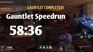 Unsinkable Gauntlet Speedrun 58:36 World Record? BO4 Zombies PS4