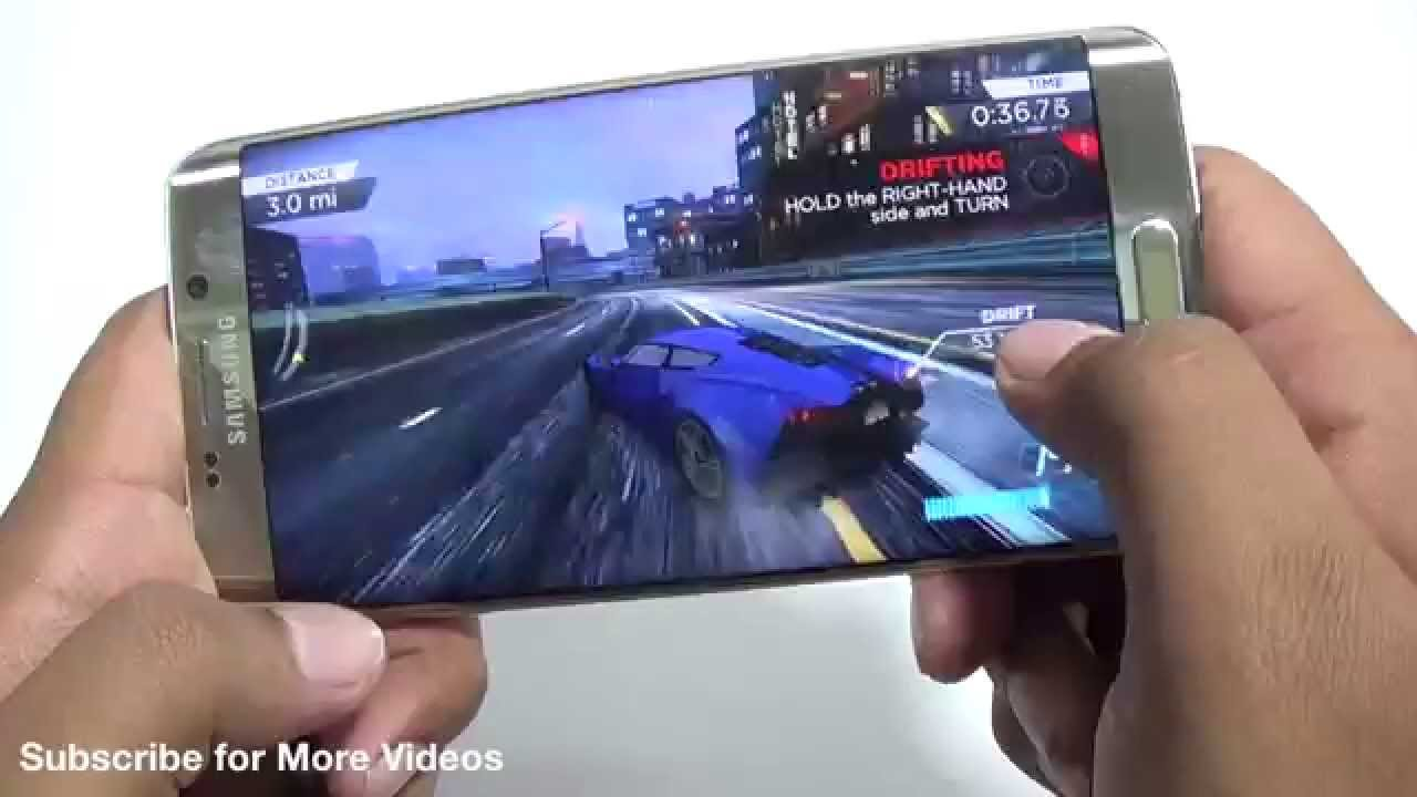 Samsung Galaxy S6 Edge Plus Gaming Review With Asphalt 8