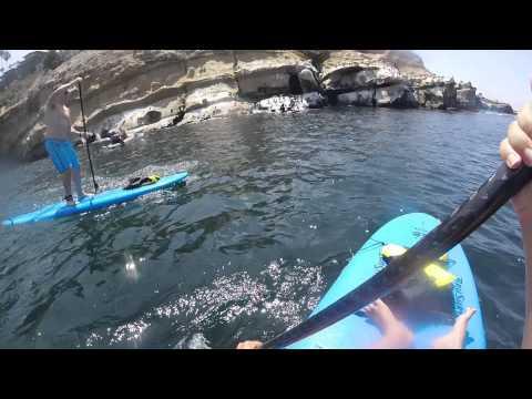 La Jolla Shores to La Jolla Cove on a Paddleboard