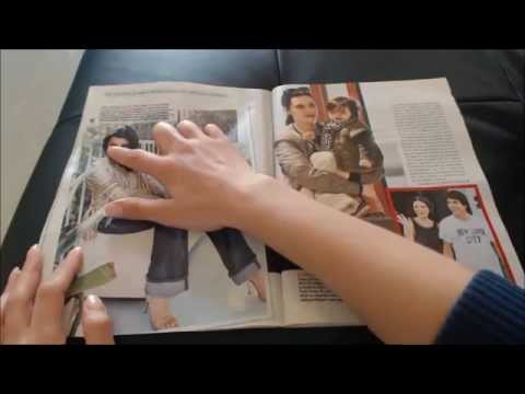 ♦ Soft spoken magazine page flipping ♦  ASMR ♦