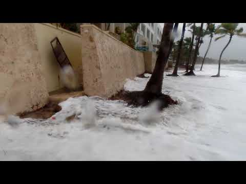 La playa de Cabarete con la tormenta Maria (21.9.17)