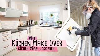 KÜCHEN MAKE OVER - Küchen Möbel neuer Anstrich mit Farbsprühsystem W 690 flexio & PepUp  //delari