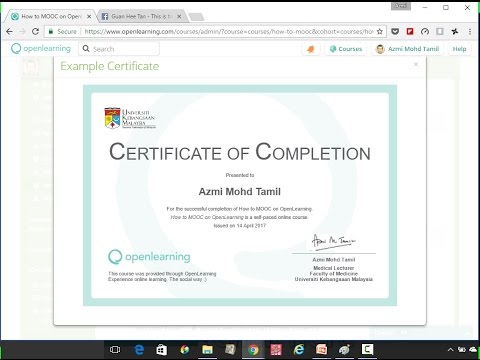 How To Create An E Certificate For Your Open Learning Course YouTube