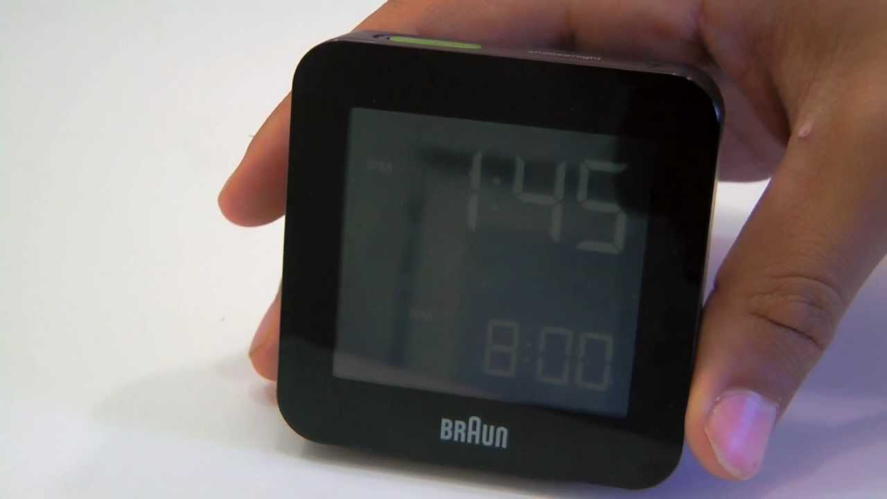 review braun global radio controlled digital alarm clock youtube. Black Bedroom Furniture Sets. Home Design Ideas