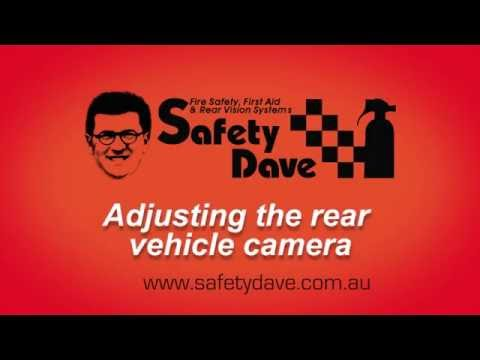 How to adjust a rear vehicle camera to perfection - Installing | Safety Dave Australia