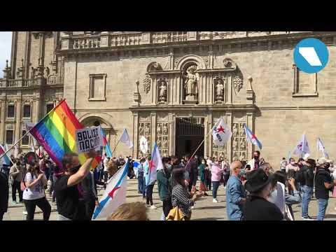 [VÍDEO] Manifestación de Vía Galega polas rúas da capital de Galiza