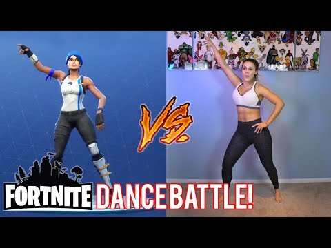 FORTNITE DANCE BATTLE! - (Real Life Vs Fortnite) | The Royalty Family